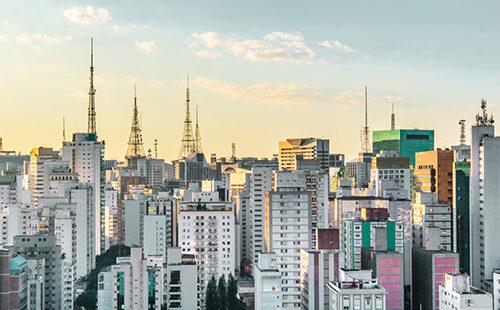 Photo of Buildings near Paulista Avenue, in Sao Paulo, Brazil (Brasil)